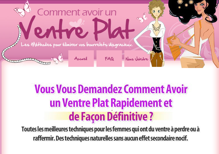 http://www.ventreplat-femme.com
